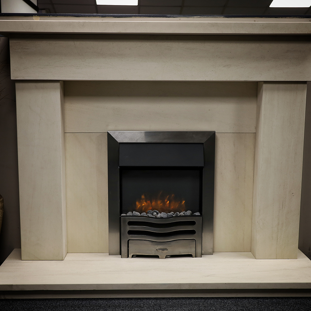The Bann Natural Limestone Fireplace