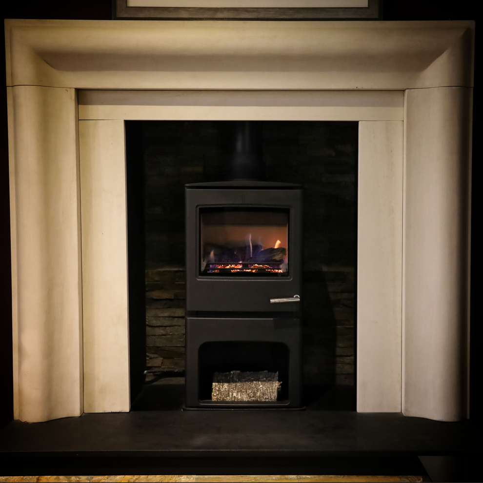 The Errigal Natural Limestone Fireplace